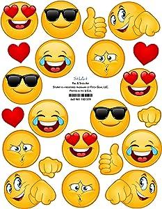 StikArt Removable Emoji Stickers (#1)