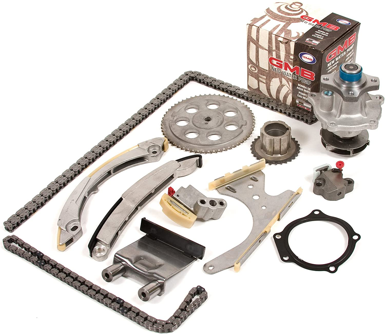 Buick Rainier Fits 02-08 Chevrolet Trailblazer Isuzu Ascender Saab 9-7x Oldsmobile Bravada 2.8 2.9 DOHC 16V // 3.5 DOHC 20V // 4.2 DOHC 24V Timing Chain Kit GMB Water Pump GMC Envoy
