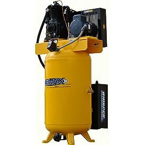 5 HP Quiet Air Compressor, Vertical, 1 PH, 80-Gallon, Industrial