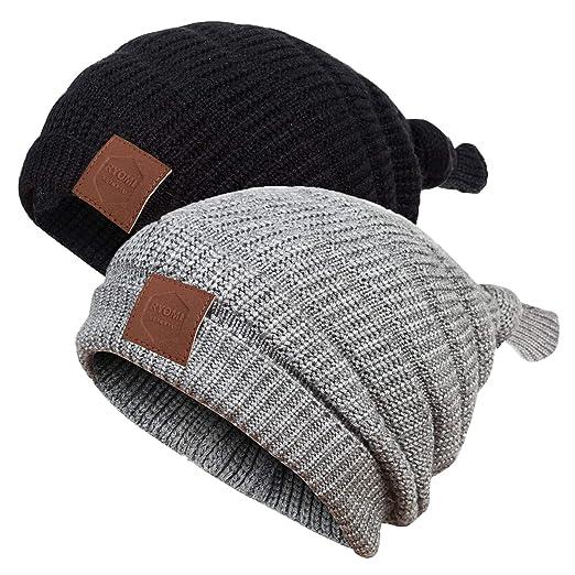e760462ce32c86 RYOMI SEIKATU Baby Boy Beanie Hat Winter Warm Lamb Cashmere Fleece Lined Hat  Toddler Infant Kids