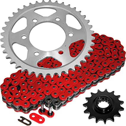 Amazoncom Caltric Red O Ring Drive Chain Sprockets Kit