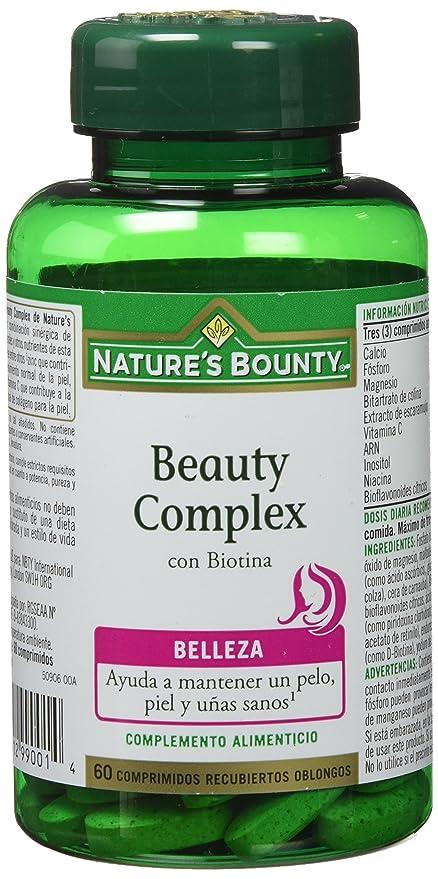 Natures Bounty Beauty Complex con Biotina - 60 Comprimidos