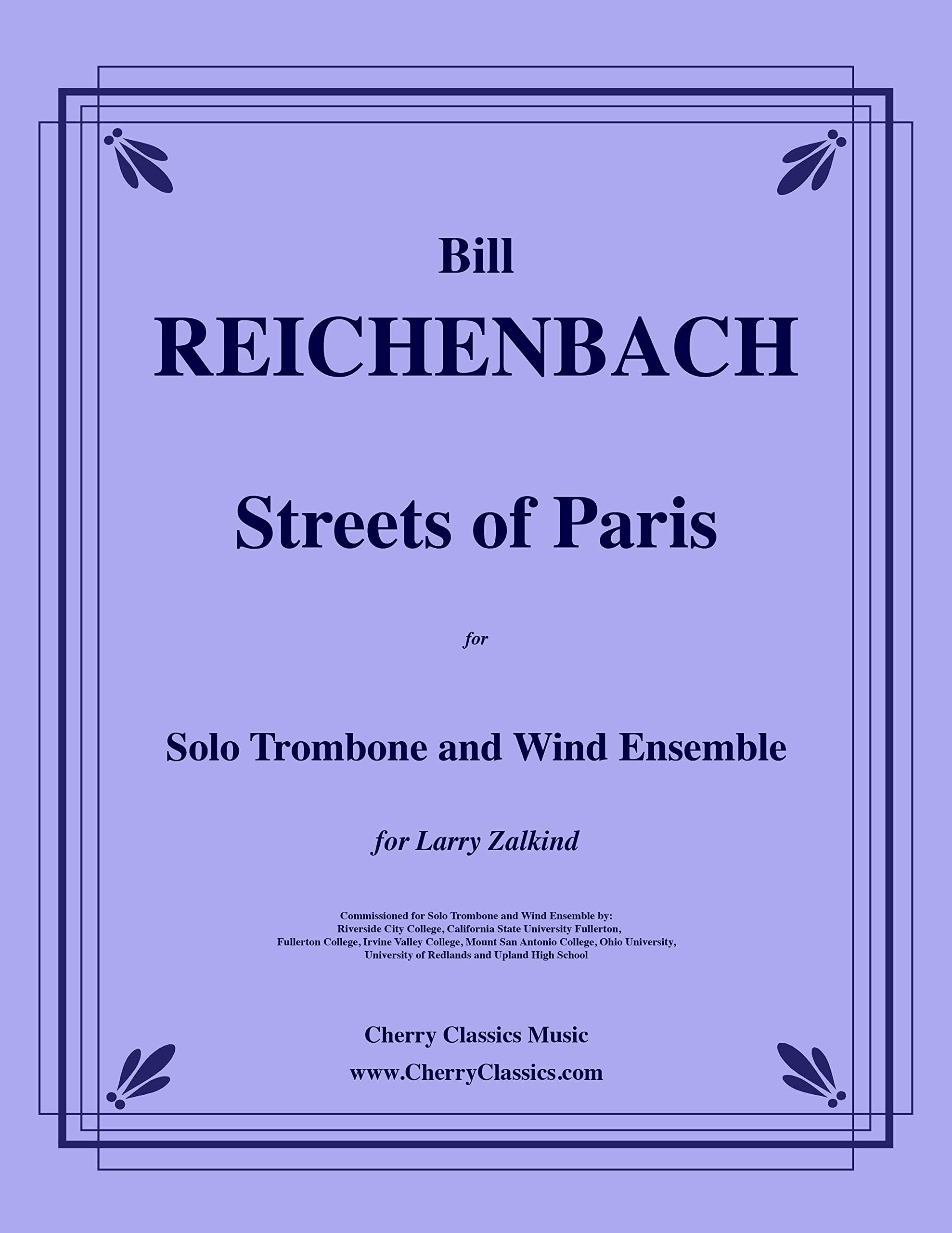 Amazon com: Streets of Paris for Solo Trombone and Wind