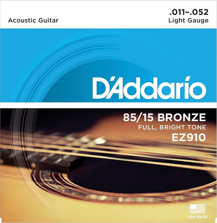 Daddario Ez910 Bronze Light 011 052 Acoustic Guitar Strings Steel Wiring Diagram Musical Instruments