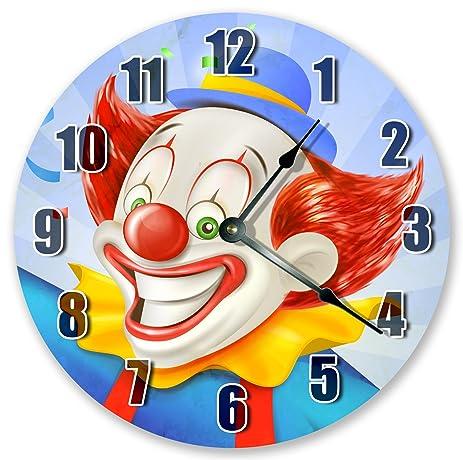 10.5u0026quot; FUNNY CLOWN CLOSE UP Clock   ART Clock   Large 10.5u0026quot; Wall  Clock