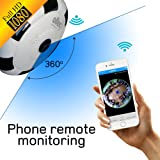 Home Security Camera 360 degree WiFi – Panoramic camera security 1080p FULL HD wireless – Fisheye camera wide viewing angle lense - Home surveillance 360 camera system smart 1080 for kids pet dog cat