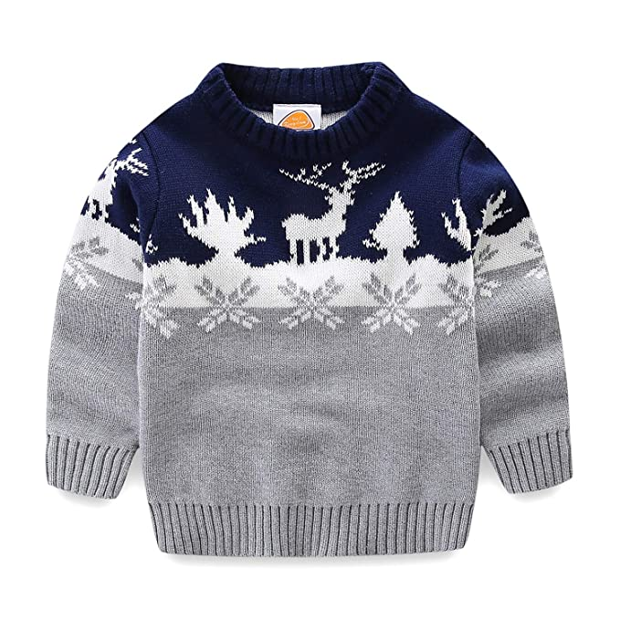 Christmas Sweaters Cute.Mud Kingdom Boys Christmas Sweaters Xmas Reindeer Clothes