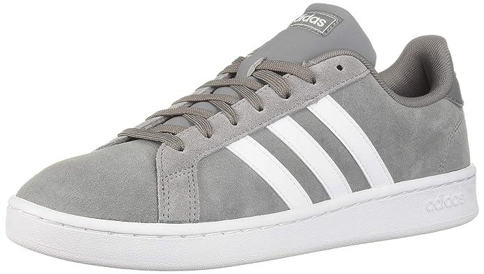 adidas Grand Court Herren Sneakers (Tennisschuhe) grau mit weißen Streifen