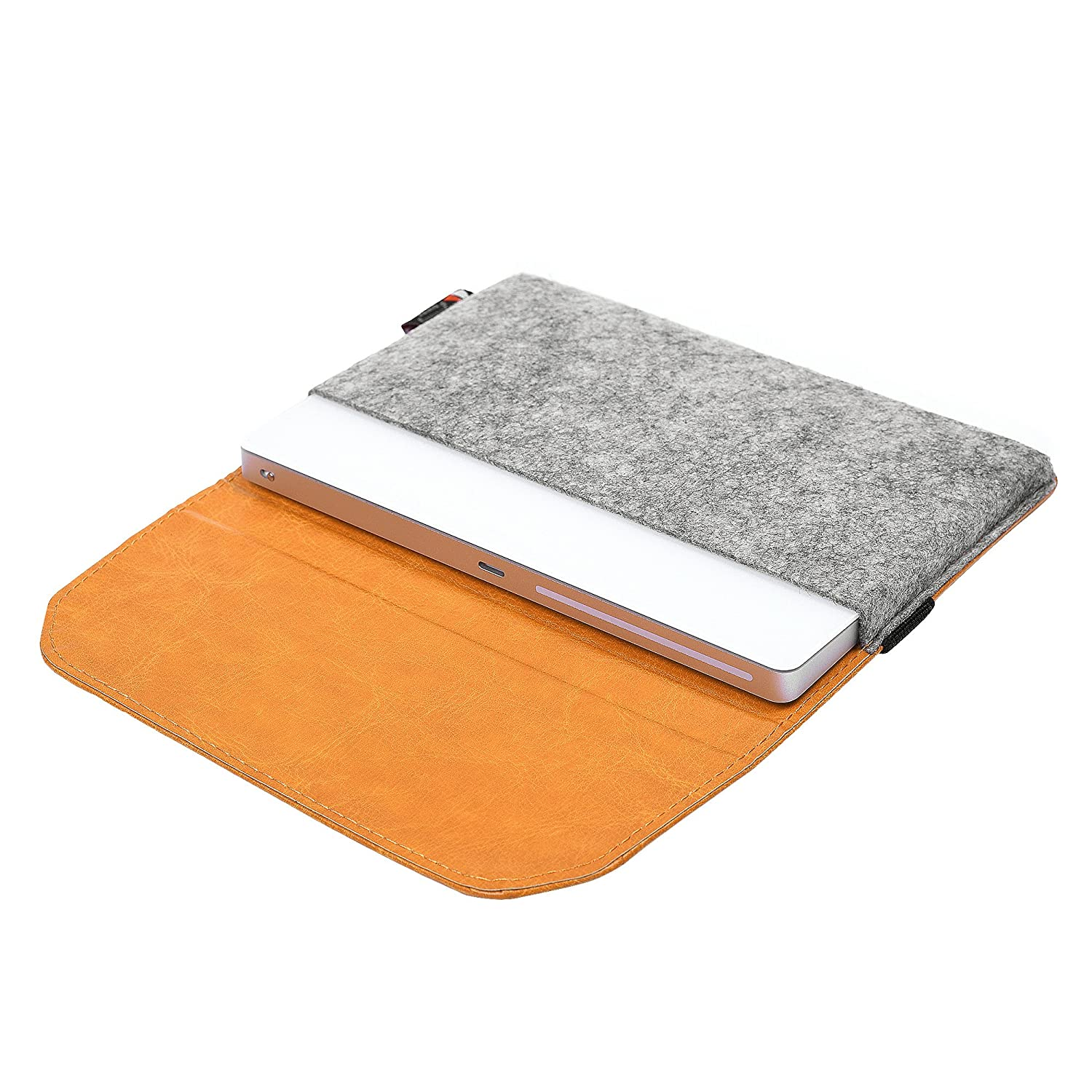 TXEsign Premium Felt PU Leather Protection Sleeve Travel Carrying Case Compatible with Apple Magic Trackpad 2 MJ2R2LL//A