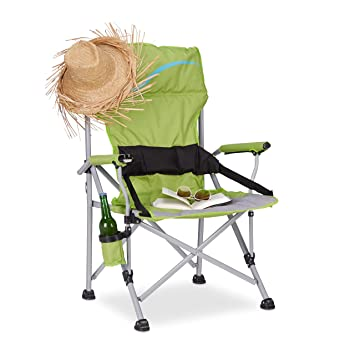 Relaxdays Silla Plegable de Camping XL, Aluminio y Poliéster ...
