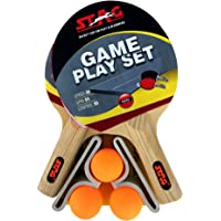 Stag Table Tennis Game Play Set 2 Rackets & 3 TT Balls (Multicolor)