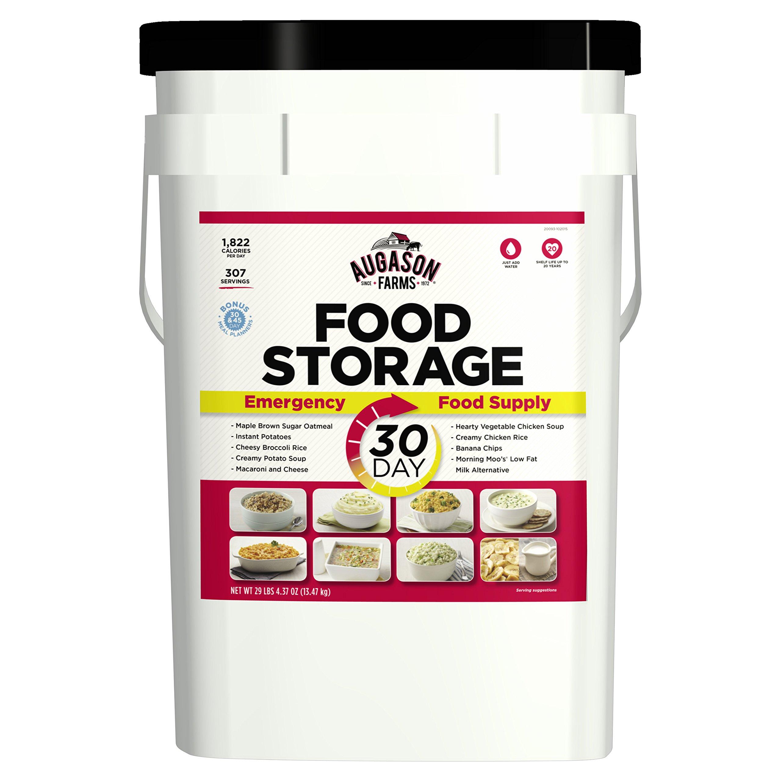 Augason Farms 30-Day Emergency Food Storage Supply 29 lb 4.37 oz 8.5 Gallon Pail by Augason Farms