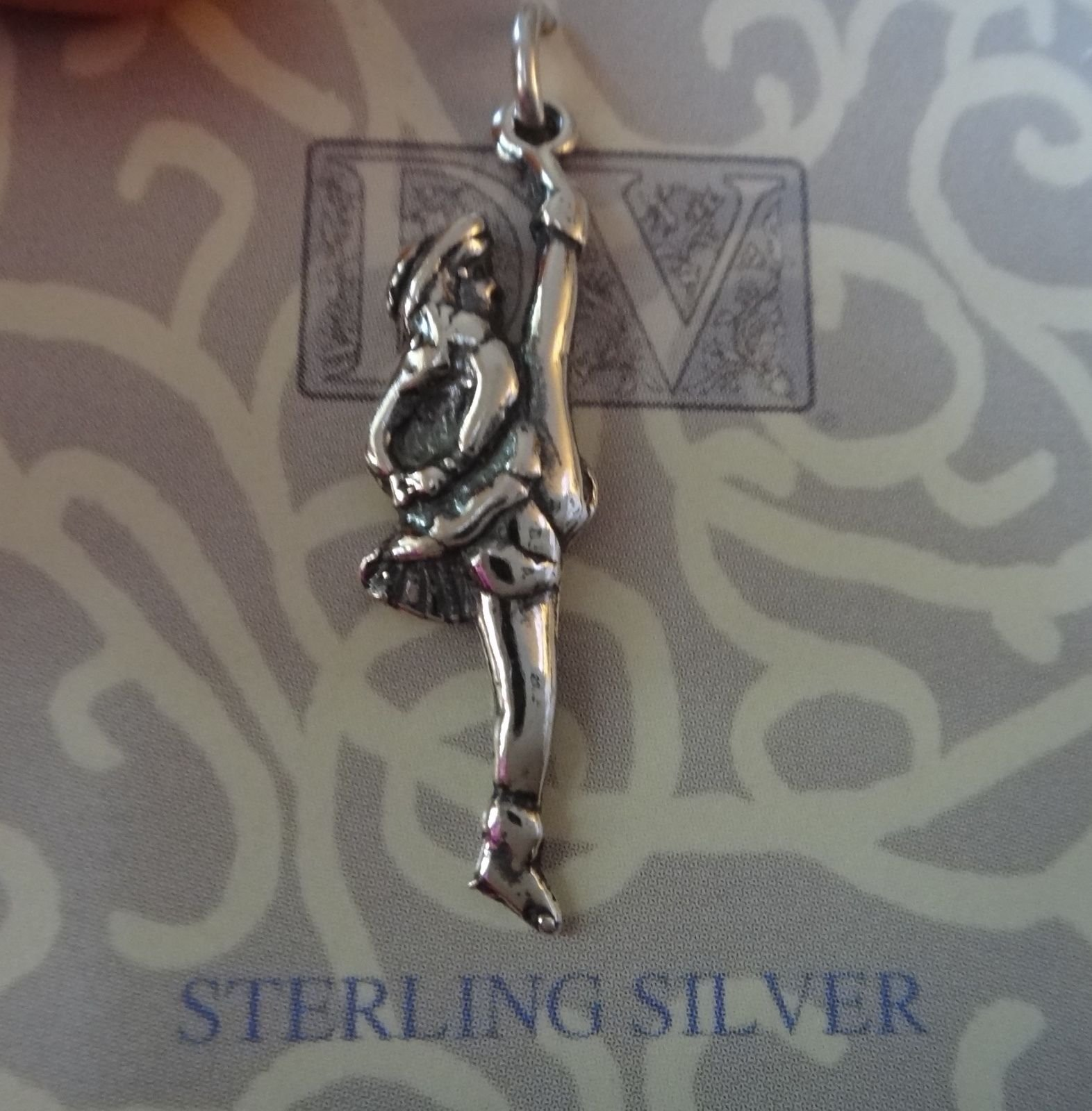 Sterling Silver 30x8mm Dance Drill Team High Kicker Charm Jewelry Making Supply, Pendant, Charms, Bracelet, DIY Crafting by Wholesale Charms