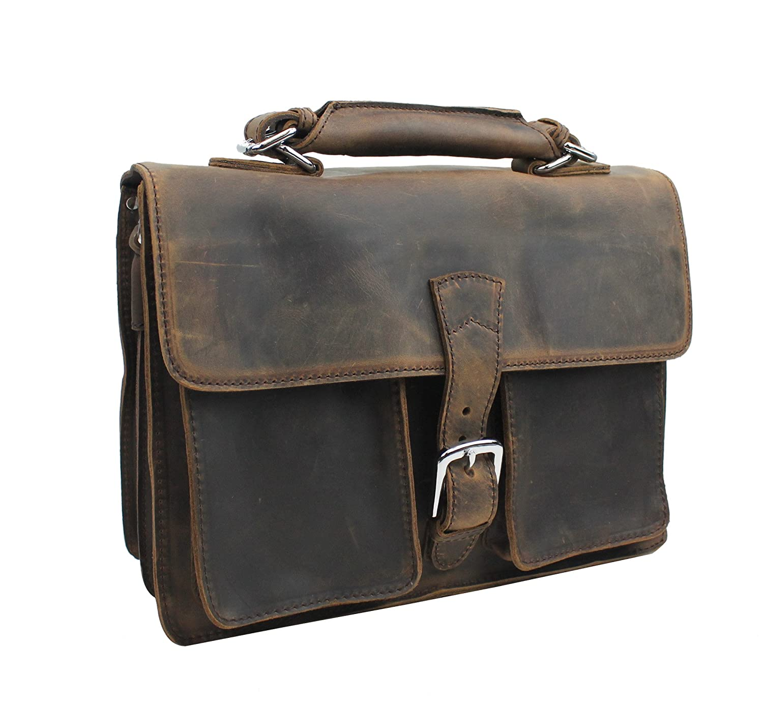 Vagabond Traveler Medium Leather Briefcase L39   B073S9JFQB