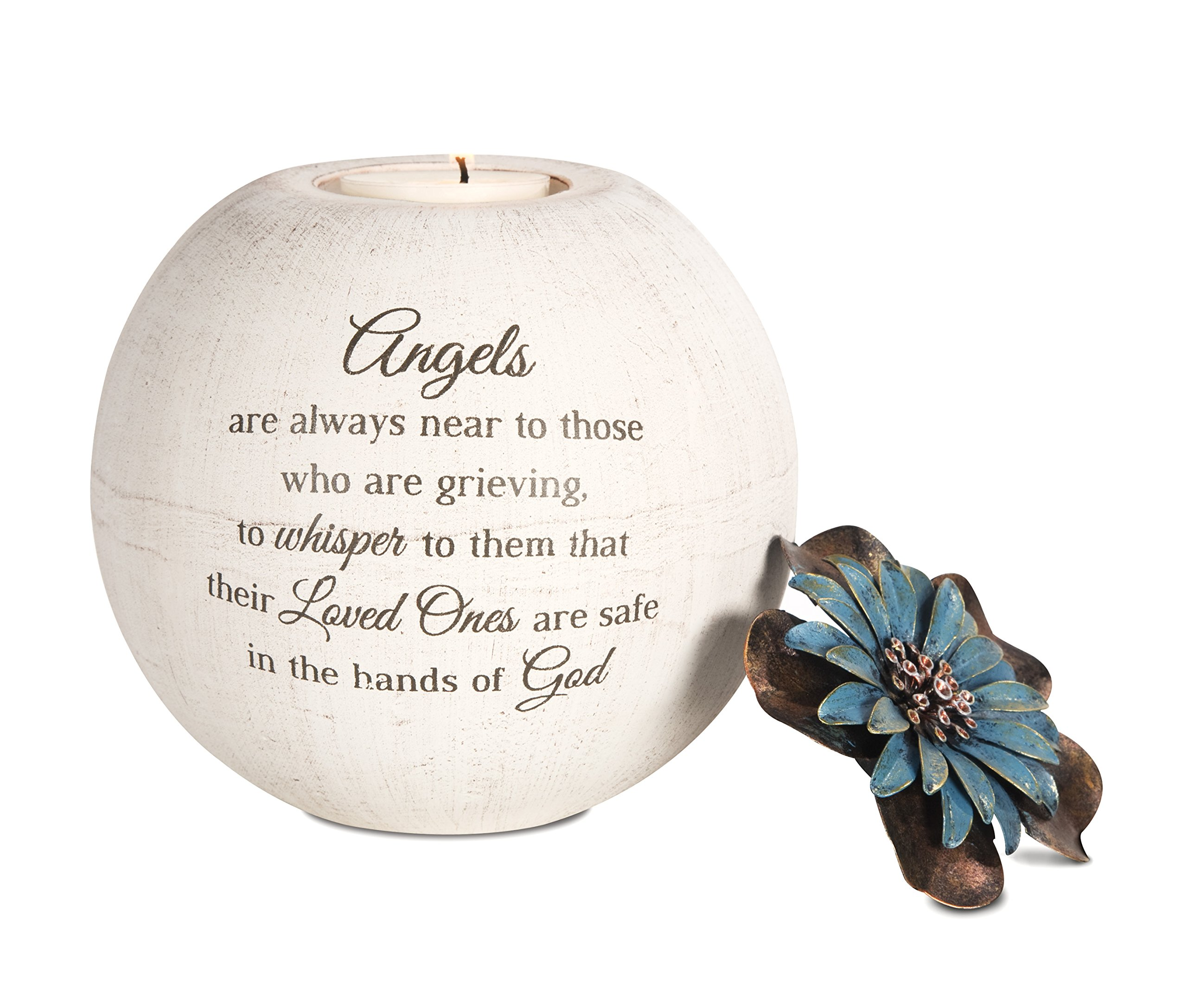 Pavilion Gift Company 19094 Angels are Near Candle Holder, 5-Inch, Terra Cotta
