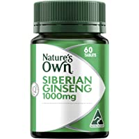 Nature's Own Siberian Ginseng 1000mg - 60 Tablets