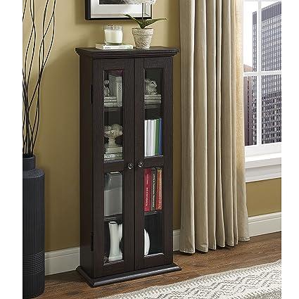 WE Furniture 41u0026quot; Media Storage Cabinet Espresso & Amazon.com: WE Furniture 41