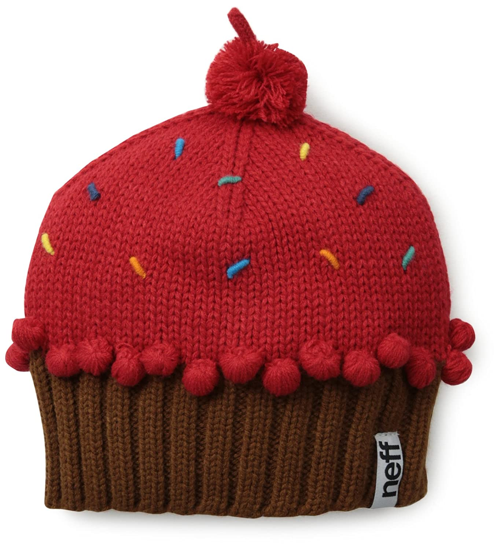 Neff Women's Cupcake Beanie Hat Chocolate One Size Neff Headwear NF00003