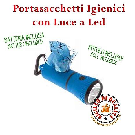 Imac Porta Bolsas higiénicos con luz LED: Amazon.es ...