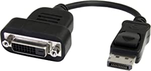 StarTech.com DisplayPort to DVI Adapter - Active Conversion - 1920x1200 - DP to DVI Single Link Converter for DVI-D Display (DP2DVIS)