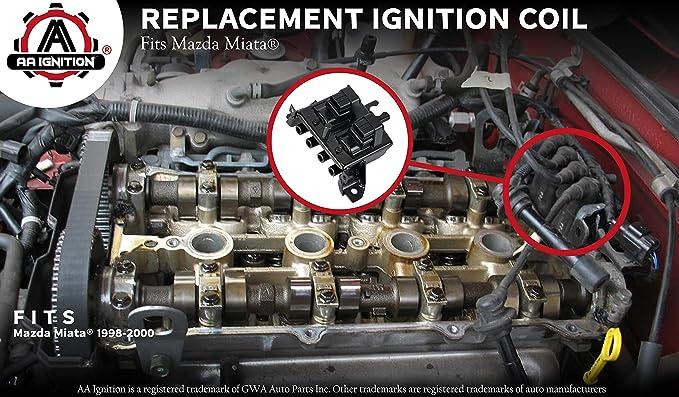 Ignition Coil-Cop NGK 48915 fits 2001 Mazda Miata 1.8L-L4 waste Spark
