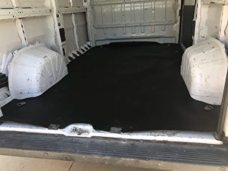 All Weather Rubber Flat Cargo Mat Liner Compatible with Dodge Ram Promaster City Cargo Van 2015-2021