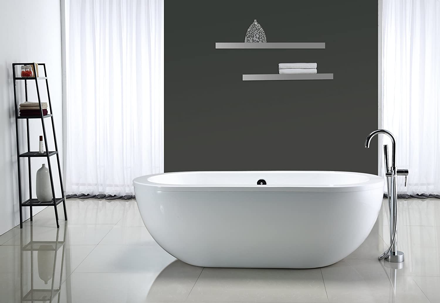 drain for freestanding tub. ove decors serenity 71-inch freestanding acrylic bathtub, glossy white - soaking tubs amazon.com drain for tub