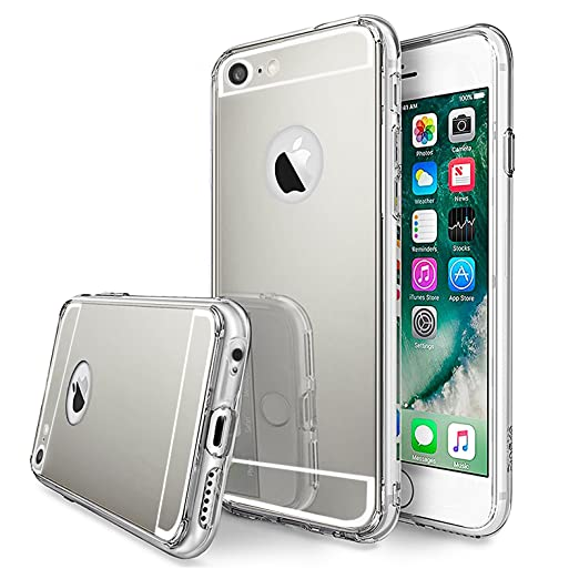 3 opinioni per LIVHÒ | Cover a specchio argento per iPhone 6 Plus / 6s Plus – Mirror Case –