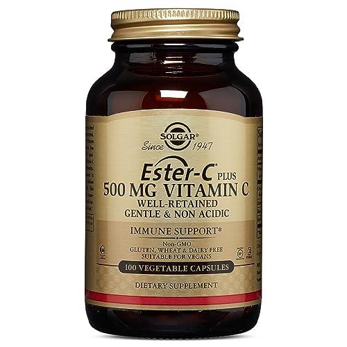 Solgar Ester-C Plus 500 mg Vitamin C Vegetable Capsules - 100 vegicaps