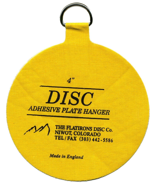 Amazon.com: Flatirons Disc Set of Four 4 Inch Adhesive Plate ...
