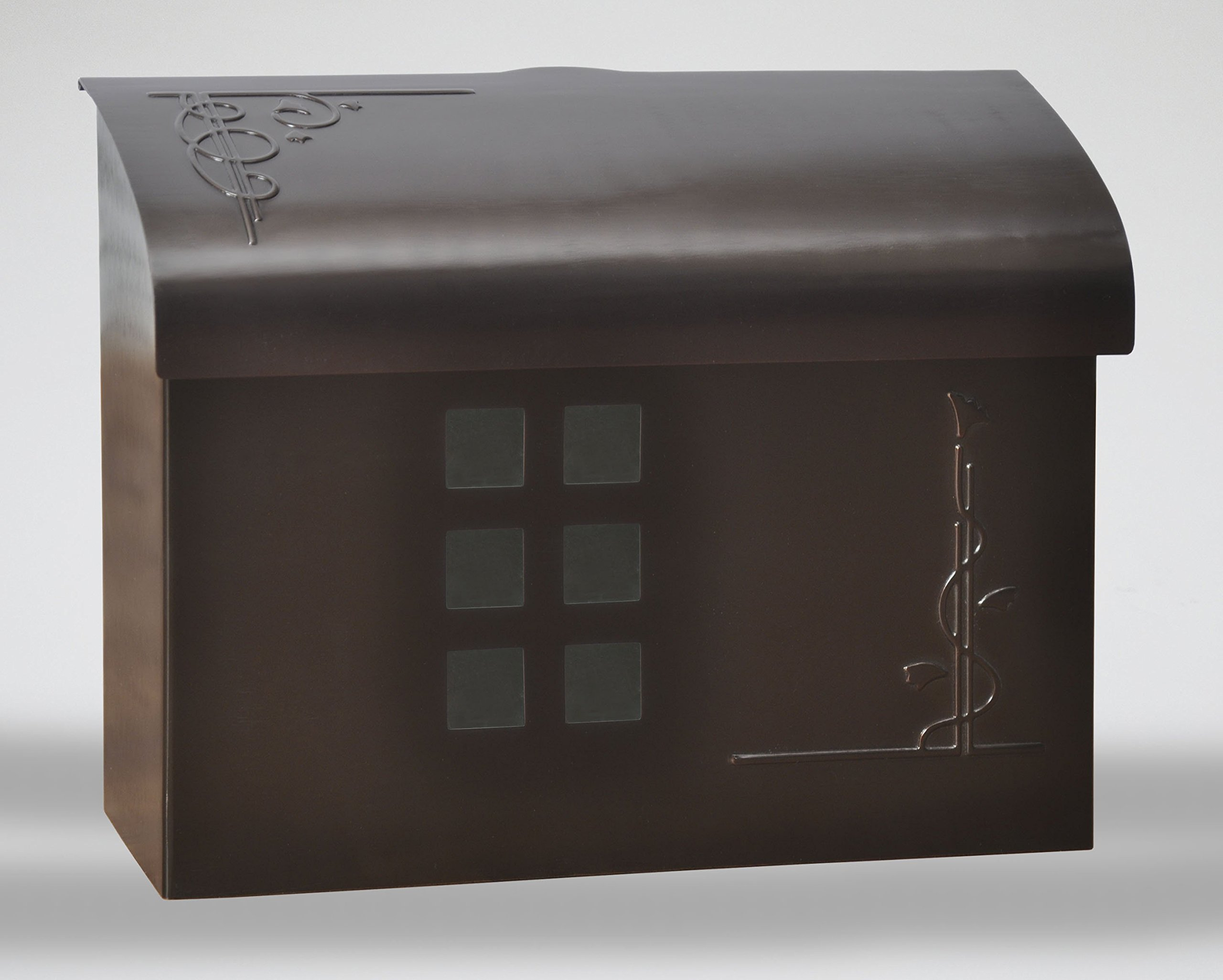 Ecco E7 Arts and Crafts Mailbox - Large Brass Wall Mount Mailbox - 6 Finishes Available (Bronze) by ECCO