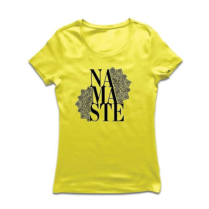 lepni.me Camiseta Mujer Mandala Geometry Namaste Art Yoga ...