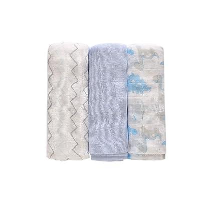 3 toallitas de gasa para bebé, muselina de algodón, diseño cuadrado, reutilizable,