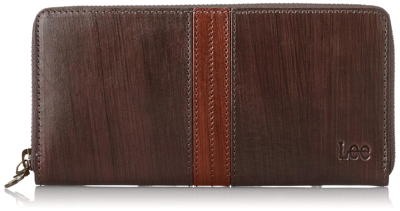 [リー] 財布 高級イタリアンレザー ラウンドファスナー長財布 320-1903 B0105L5BWK ダークブラウン ダークブラウン