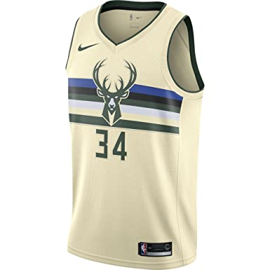 Nike NBA Milwaukee Bucks Giannis Antetokounmpo 34 2017 2018 City Edition Jersey Official, Camiseta de Hombre: Amazon.es: Ropa y accesorios