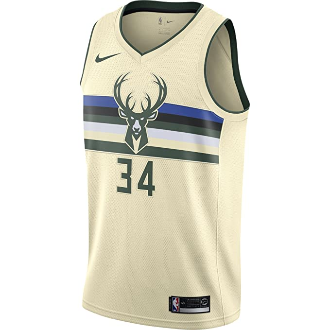 Nike NBA Milwaukee Bucks Giannis Antetokounmpo 34 2017 2018 City ...