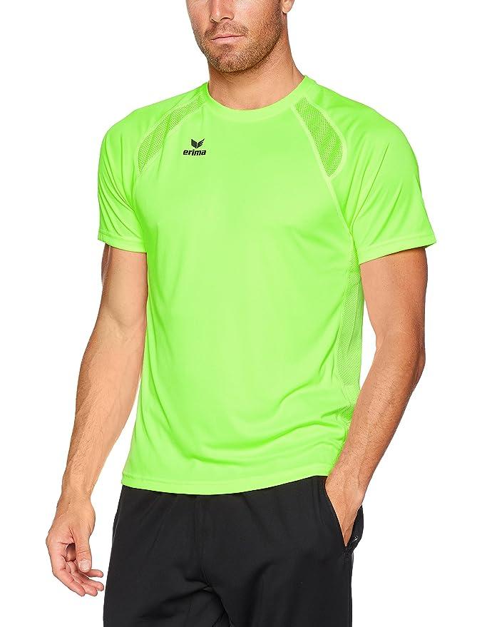 Camiseta de manga corta para hombre de color verde neón