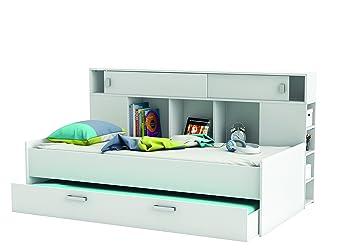 Bett mit bettkasten 90x200  Demeyere 407011 Bettüberbau, Bett mit Bettkasten 90 x 200 cm ...