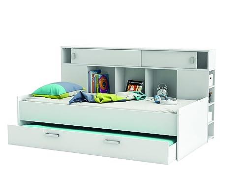 Bett mit bettkasten kinder  Demeyere 407011 Bettüberbau, Bett mit Bettkasten 90 x 200 cm ...