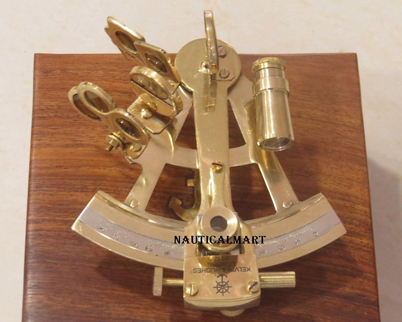 Nauticalmart Brass Sextant Kelvin Hughes London marine Gift Astrolabio NauticalMart Inc