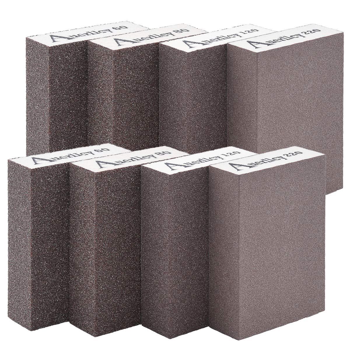 Sanding Sponge,Coarse/Medium/Fine/Superfine 8PCS 4 Different Specifications Sanding Blocks Assortment,Washable and Reusable. (8 PCS) by Auerllcy