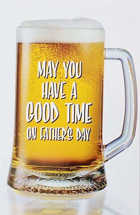 Amazoncom Funny Beer Theme Happy Fathers Day Greeting Card To