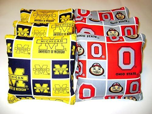 Ohio State Buckeyes Vs Michigan Wolverines 8 Cornhole Bean Bag Tailgate Toss