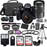 Canon EOS M5 Mirrorless Digital Camera (Black) Bundle with Canon EF-M 18-150mm f/3.5-6.3 is STM + 2pc SanDisk 32GB Memory Cards + Accessory Kit
