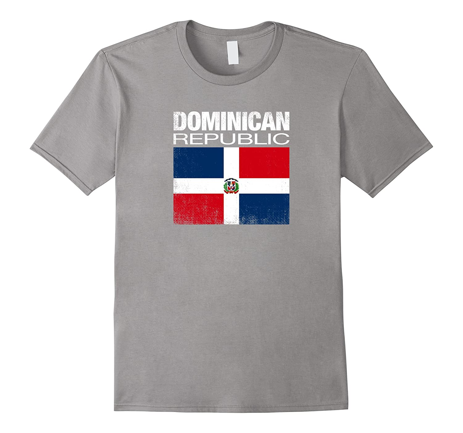 Dominican Republic Flag Beautiful Vintage Distressed T Shirt-T-Shirt