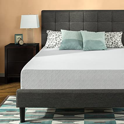 2da920b4b7 Image Unavailable. Image not available for. Color: Zinus 12 Inch  Gel-Infused Green Tea Memory Foam Mattress, Queen