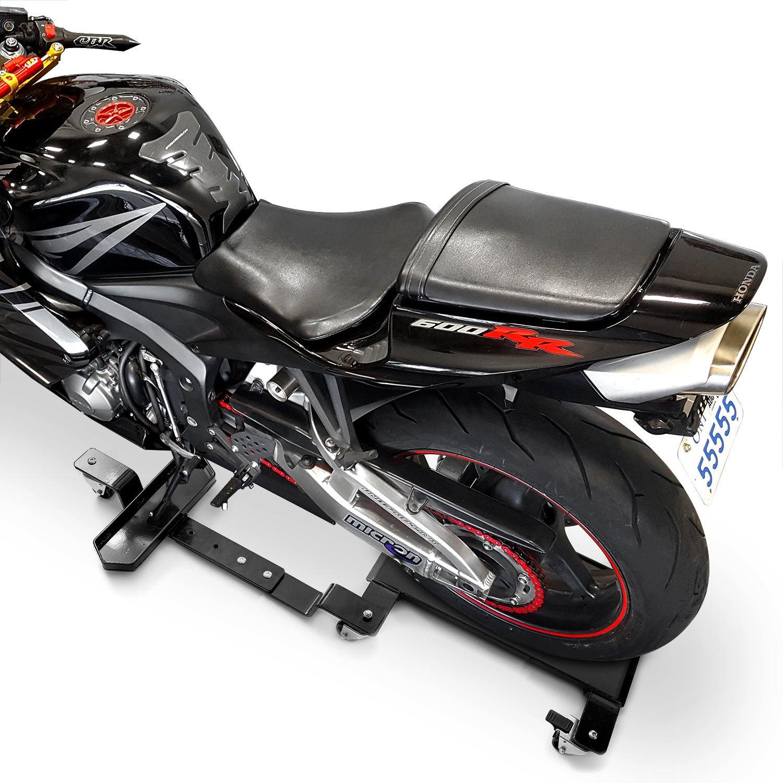 Venom Motorcycle Mover Dolly Cruiser Side Stand for Harley Davidson Dyna Glide Fat Bob Super Wide