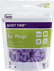Flents Ear Plugs, 70 Pair, Ear Plugs for Sleeping, Snoring, Loud Noise, Traveling, Concerts, Construction, & Studying, NRR 33