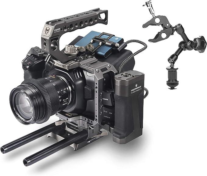 Amazon Com Tilta Bmpcc 4k 6k Camera Cage Case Blackmagic Pocket Cinema Camera 4k Ta T01 A G Tactical Package Kit For Blackmagic Cinema Camera Tilta Grey