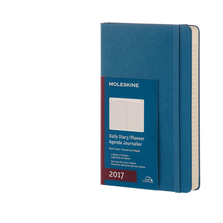 Moleskine DHB2112DC3Y17 - Agenta diaria 12 meses, L 13 x 21, color azul